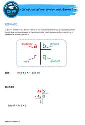 Qu'est-ce qu'une division euclidienne? - CRPE2022