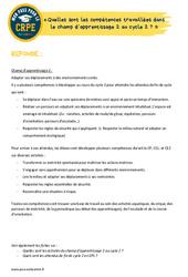 Quelles sont les compétences travaillées dans le champ d'apprentissage 2 au cycle 2? - EPS - CRPE