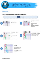 Quelle est la procédure pour effectuer une division posée? - CRPE2022
