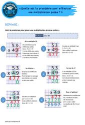 Quelle est la procédure pour effectuer une multiplication posée? - CRPE2022