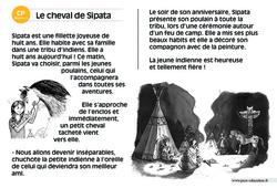 Le cheval de Sipata – CP – Lecture compréhension – Histoire illustrée - Niveau 3