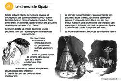Le cheval de Sipata – CE1 – Lecture compréhension – Histoire illustrée – Niveau 3