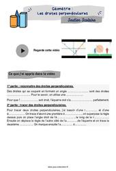 Les droites perpendiculaires – CM2 – Soutien scolaire pour les élèves en difficulté.