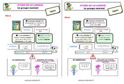 Le groupe nominal – Ce2 – Étude de la langue – Leçon