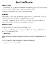 Société au Moyen Age - Leçon - Moyen âge - Cm1 - Cycle3
