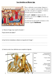 Chevaliers au Moyen Age - Exercices - Moyen âge - Cm1 - Cycle 3