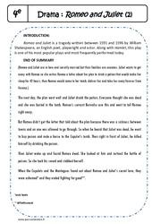 Shakespeare - Romeo and Juliet - 4ème - Suite de l'exercice de lecture