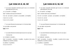 Noms en [é], [té], [tié] – Cm2 – Leçon