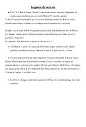 Guerre de cent ans – Leçon – Moyen Age –  Cm1 – Cycle 3