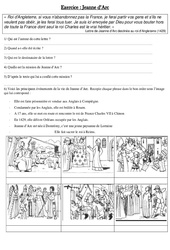 Jeanne d'Arc – Exercices – Moyen Age – Cm1 – Cycle 3