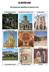 Documents pour exploitation en histoire de l'art au moyen âge - Cm1 - Cycle 3