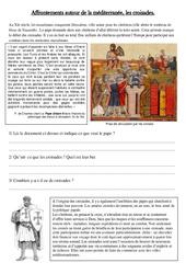 Affrontements en méditerranée, les croisades – Exercices – Moyen Age – Cm1 – Cycle 3