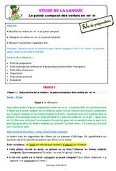 Le passé composé des verbes en -er -ir – Ce2 – Étude de la langue – Fiche de préparation