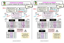 Le passé composé des verbes en -er -ir – Ce2 – Étude de la langue – Leçon