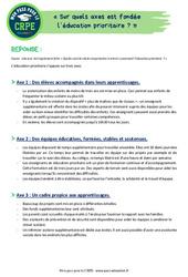 Sur quels axes est fondée l'éducation prioritaire - CRPE2022