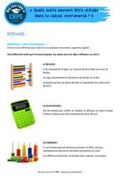 Quels outils peuvent être utilisés dans le calcul instrumenté? - CRPE2022