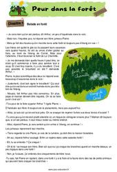 Peur dans la forêt - Ce1 - Ce2 - Récit - Lecture