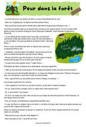 Peur dans la forêt - Cm1 - Cm2 - Récit - Lecture