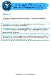 Quelle est la différence entre connaissance, compétence et savoir? - CRPE2022