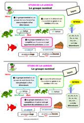Le groupe nominal – Ce1 – Étude de la langue – Leçon