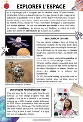 Explorer l'espace - CM1 - CM2 - Lecture documentaire