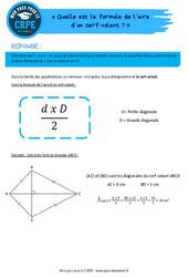 Quelle est la formule de l'aire d'un cerf-volant? - CRPE2022