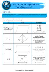 Quelles sont les propriétés d'un parallélogramme? - CRPE2022