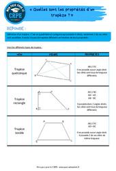 Quelles sont les propriétés d'un trapèze? - CRPE2022