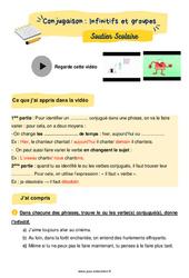Infinitifs et groupes - CM1 - Soutien scolaire pour les élèves en difficulté.
