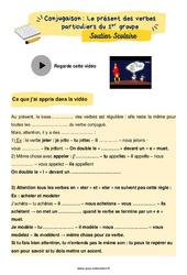 Le présent des verbes particuliers du 1er groupe - CM2 - Soutien scolaire pour les élèves en difficulté.
