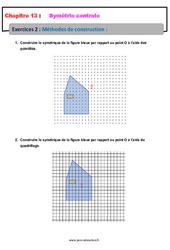Méthodes de construction – 5ème – Exercices avec les corrections