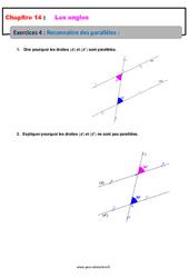 Reconnaitre des parallèles – 5ème – Exercices avec les corrections