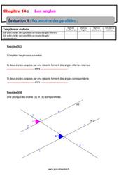Reconnaitre des parallèles – 5ème – Evaluation, bilan, contrôle avec la correction