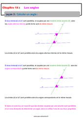 Calculer un angle – 5ème – Cours