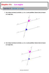 Calculer un angle – 5ème – Exercices avec les corrections