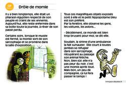 Drôle de momie – CP – Lecture compréhension – Histoire illustrée – Niveau 3