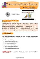 Les formes de phrases – CE2 – Soutien scolaire pour les élèves en difficulté.
