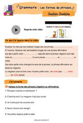 Les formes de phrases – CM1 – Soutien scolaire pour les élèves en difficulté.