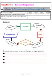 Reconnaitre un parallélogramme particulier – 5ème – Evaluation, bilan, contrôle avec la correction
