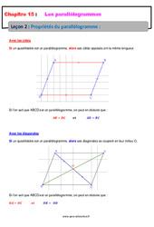 Propriétés du parallélogramme – 5ème – Cours