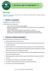 Qu'est-ce que la dysgraphie? - Définition – CRPE2022