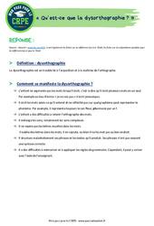 Qu'est-ce que la dysorthographie? - Définition – CRPE2022