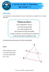 Qu'est-ce que le théorème des milieux? – CRPE2022