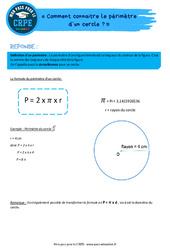Comment connaitre le périmètre d'un cercle? – CRPE2022