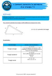 Comment connaitre le périmètre d'un triangle? – CRPE2022
