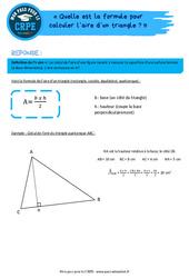 Quelle est la formule pour calculer l'aire d'un triangle? – CRPE2022