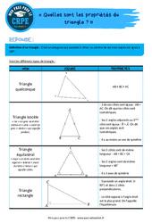 Quelles sont les propriétés du triangle? – CRPE2022