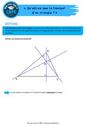 Qu'est-ce que la hauteur d'un triangle? – CRPE2022