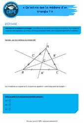 Qu'est-ce que la médiane d'un triangle? – CRPE2022