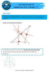 Qu'est-ce que la médiatrice d'un triangle? – CRPE2022